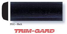 "3/4"" x 16' Roll Universal All Black Gloss Textured Trim-Gard Body Side Molding"