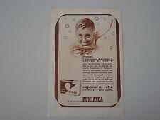 advertising Pubblicità 1948 SAPONE AL LATTE VISET RUMIANCA