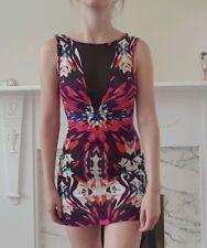 Multicoloured Bodycon Mini Dress Miss Selfridge Size 6 Petite