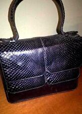 Vintage Bag Pochette pelle nera Pitone pezzo unico fatta a mano MUST HAVE
