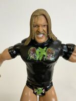 """2003 Triple H WWE Jakks Pacific 7"""" Ruthless Aggression Action Figure + Knee Pads"""
