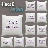 "Cushion Pads, Inner, Fillers, Insets Hollow Fiber 12""14""16""18""20""22""24""26""28"""