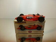 FARACARS 101 INDIANAPOLIS STP TURBINE CAR #40 - RED 1:43 - EXCELLENT IN BOX