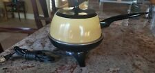 Vintage Oster Mid Century Electric Fondue Pot - Harvest Gold