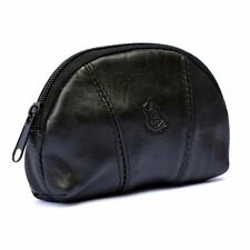Mens Ladies Soft REAL GENUINE Leather Coin Purse Zip Around Credit Card Holder