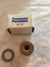 Purolator GF-21 Brass Fuel Filter 33050 GM 59-75 In-Carb Ford 84-88
