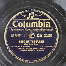 78rpm PAUL ROBESON song of the plains / song of the fatherland