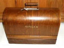 STUNNING VINTAGE  SINGER 99k HAND CRANK SEWING MACHINE WITH BENTWOOD CASE.