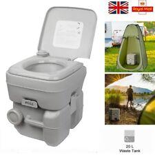 Portable Toilet 20L Flush porta-potty Outdoor Travel Camping Caravan Comfort WC