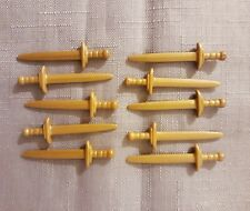 Playmobil Gold  Sword × 10, castle knight soldiers pirates spare parts,Brand New