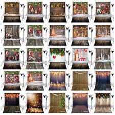 10X10FT Vinyl Rustic Wood Wall Floor Xmas Ornaments Studio Backdrop Background