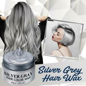 Sliver Color Unisex Hair Color Wax Mud Dye Styling Cream DIY Coloring
