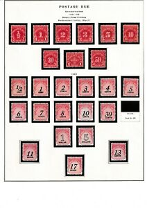 US postage due and Official collection, 7 pages