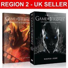 Game Of Thrones Season 7 + Conquest & Rebellion - 5 Discs UK Region 2 DVD Boxset