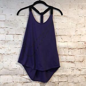 Nike Women Dry Elastika V-Back Tank Top Purple Size Small