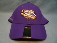Nike LSU Tigers Swoosh Flex Fit OSFM BRAND NEW curved bill hat cap Louisiana St.