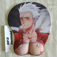 Fate/stay night Emiya Shirou Silicone Breast 3D Mouse Pad Game Mat Wrist Rest