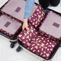 6Pcs/set Baggage Travel Organizer Bags Waterproof Project Packing Organizer Bag