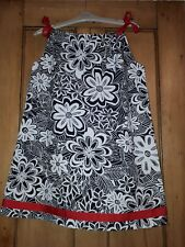 Brand New Hanna Andersson Black & White Girls Dress - AGE 6-7 - Size 120