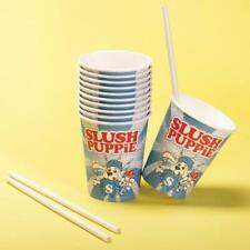 Slush Puppie Paper Cups & Straws 20 Pack Slushie Puppy Small