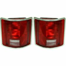 Set of 2 LH & RH Side Tail Lamp Lens and Housing Fits Blazer C10 Suburban Jimmy