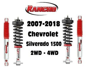 Rancho Front Struts & RS9000XL Adjustable Rear Shocks For 07-18 Silverado 1500