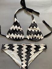 NWT Authentic MISSONI MARE Crochet-knit triangle bikini size 44  EU Italy