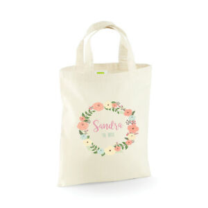 Personalised Wedding Party Bridal, Flower Girl, Bridesmaid Favour Gift Bags, Bag