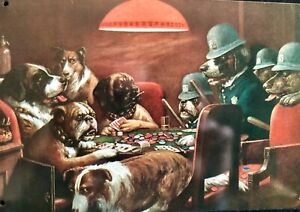 Poker Dogs Busted by the Dog Police Cute Sign