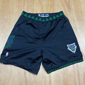 100% Authentic Timberwolves Reebok Shorts Size 38 Mens kevin garnett sprewell