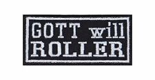 Gott will Roller Patch Aufnäher Badge Biker Heavy Rocker Bügelbild Kutte Mofa