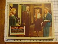 Vintage Lobby card: 1956 TEENAGE REBEL Ginger Rogers
