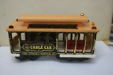 1873 SAN FRANCISCO CABLE CAR USA WOOD SOLID BRASS HAND MADE MUSICAL