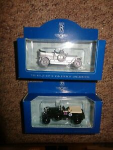 LLEDO  Rolls Royce and Bentley Collection  X 2 Model cars SILVER GHOST /SPORTS