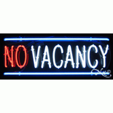 New Vacancy Amp No Vacancy 32x13 Border Real Neon Sign Withcustom Options 10267