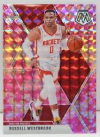 Russell Westbrook 2019-20 CAMO PINK MOSAIC PRIZM Vets Card #134 Houston Rockets