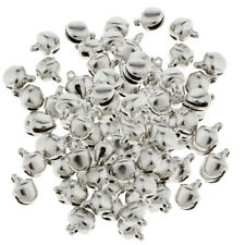 100Pcs Retro Silver Jingle Bells Beads DIY Crafts Pendant Jewelry Findings