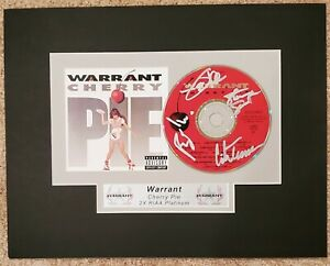 Warrant Signed Cherry Pie Auto CD GAI LOA Matted and Ready to Frame Erik Turner