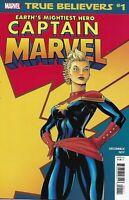 Captain Marvel Comic Issue 1 Classic Reprint True Believers 2019 Sue Deconnick