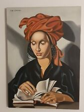 TAMARA LEMPICKA VINTAGE HANDMADE OIL PAINTING ON CANVAS,SIGNED,W/GALLERY STAMPS