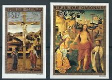 Gabun - Ostern: Gemälde Satz postfrisch 1975 Mi. 554-555 B