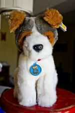 """1986 Dakin 31-2500 Sparky Dog with Tags 11"""" Plush Puppy Jack Russell Terrier"""