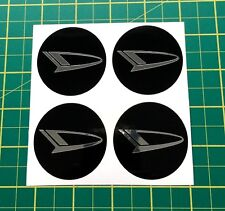 4x Alloy Wheel stickers chrome effect 50 mm fit daihatsu center badge trim cap