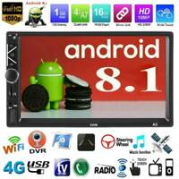 "Double 2Din 7"" Android 8.1 Car Stereo MP5 Player Bluetooth WiFi GPS FM Radio Aux"