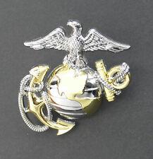 Marines Usmc Marine Corps Globe Anchor Lapel Hat Pin 1.75 Inches