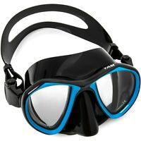 Adventure At Nature Yam Black Blue Glass Dive Mask Scuba Diving & Spearfishing