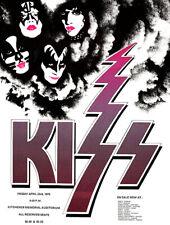 KISS - Kitchener Ontario - 1976 - Concert Poster