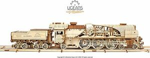 UGEARS 3D Puzzle Express Dampflokomotive Holzpuzzle Modellbau B-Ware