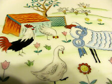 Rare Import Enesco Japan Barnyard Plate 10 1/4 Inches Chicken, Rooster, Ram