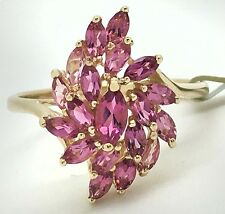 GENUINE 14.4 Carats PINK SAPPHIRE RING 14k Yellow Gold * BRAND NEW WITH TAG *